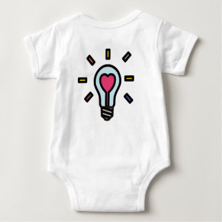 Hearted ❤︎ Light Bulb Baby BodySuit : Pastel