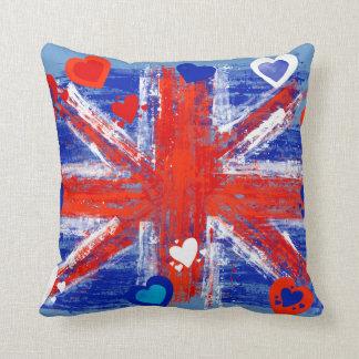 Hearted Union Flag Throw Pillow