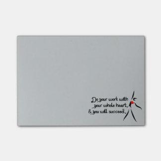 Heartfelt-Do Your Work Dance Post-it Notes
