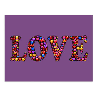 Heartfelt Love Colorful Postcard