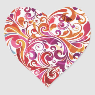 Heartfelt Swirl Heart Sticker