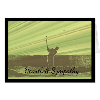 Heartfelt Sympathy Card for a Golfer