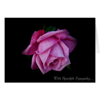 Heartfelt Sympathy Rose Card By Stan