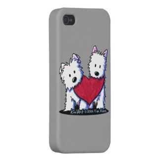 Heartfelt Westies iPhone 4/4S Case