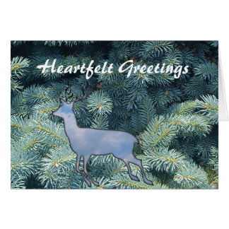 Heartfelt Wishes Reindeer winter holidays greeting Card