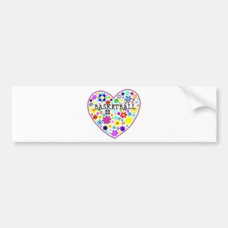 heartfilledwithflowers-basketball. bumper sticker