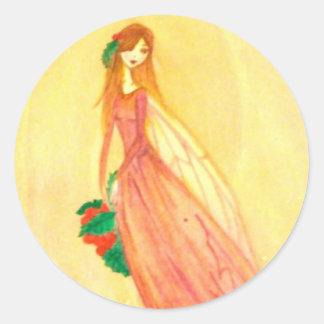 Hearth Fairy Round Stickers