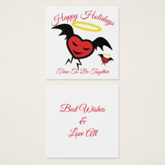 Hearties Holidays Greetings Square Business Card