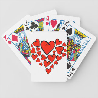 Heartinella - flying hearts bicycle playing cards