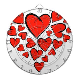 Heartinella - flying hearts dartboard