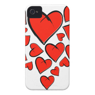 Heartinella - flying hearts iPhone 4 cover