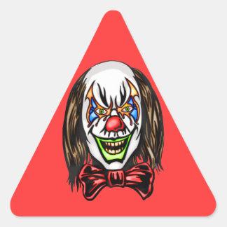 Heartless Evil Clown Triangle Sticker