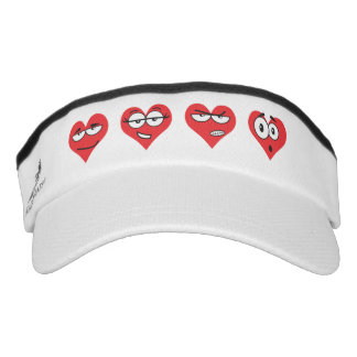Heartmojis Custom Knit Visor, White Visor