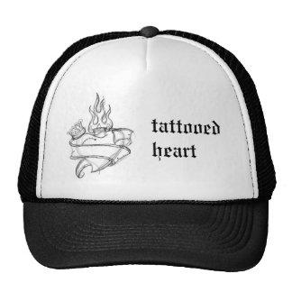 HeartOldSchool - tattooed heart Trucker Hat