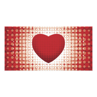 Hearts1314 red white heart shapes love sweetheart picture card