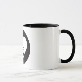 Hearts2Tails Black Graphic Logo Coffee Mug