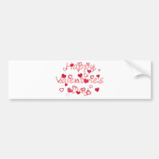 hearts3 bumper sticker