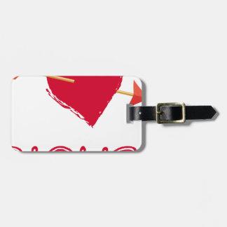 hearts4 luggage tag