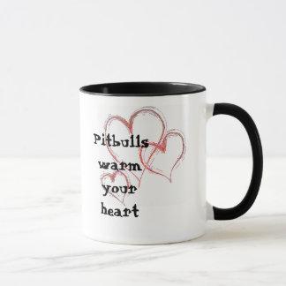 hearts-1474, Pitbulls warm your heart Mug