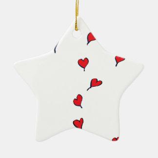 hearts 1 by tony fernandes ceramic ornament