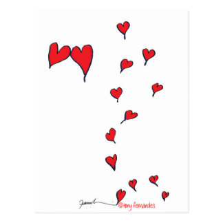 hearts 1 by tony fernandes postcard