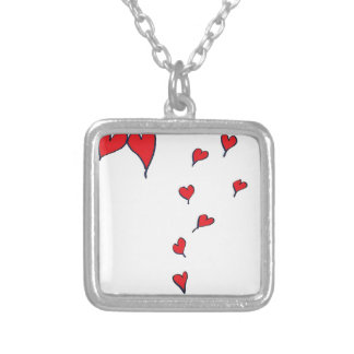 hearts 1 by tony fernandes silver plated necklace