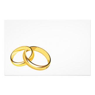 hearts (7), wedding rings customized stationery