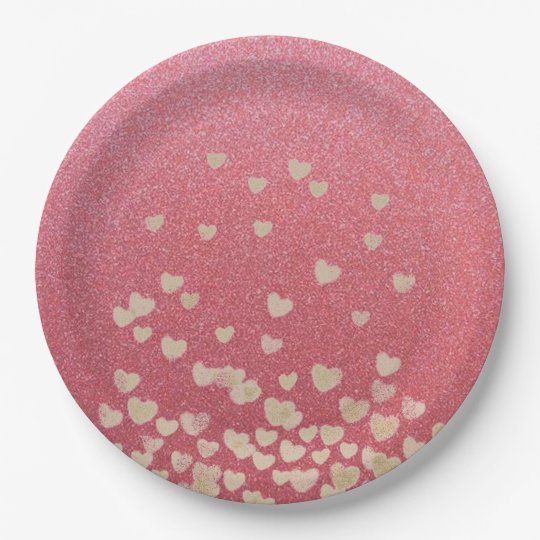 Hearts 9 Inch Paper Plate