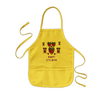 Hearts Abstract-MaMaw's Little Helper Kids Apron