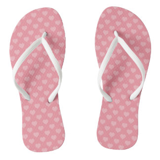 Hearts All Over Flip Flops