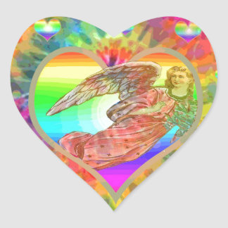 Hearts and Angel Heart Sticker
