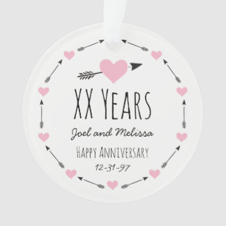 Hearts and Arrows Personalized Wedding Anniversary