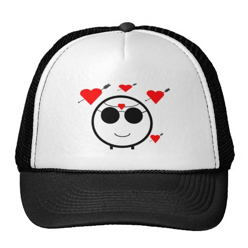 Hearts And Cupid Mesh Hat