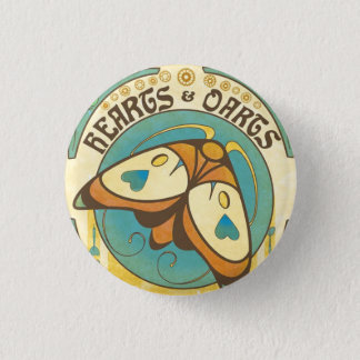 Hearts and Darts Art Nouveau Moth Button Pin