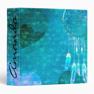 Hearts and Dream Catcher 3 Ring Binder
