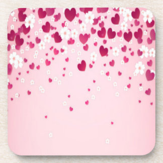 hearts and flowers beverage coaster