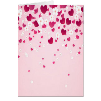 hearts and flowers card
