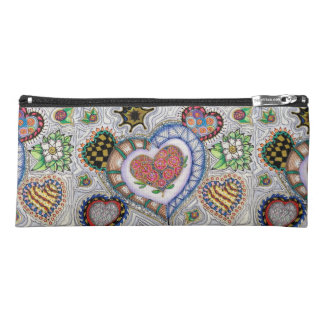 Hearts and Flowers Pencil Case