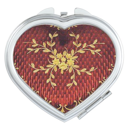 hearts and flowers travel mirror