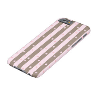 Hearts and Flowers Vertical Stripe Pattern Barely There iPhone 6 Case