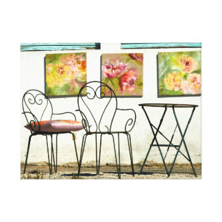 Hearts and Flowers Wrapped Canvas Photo Artwork