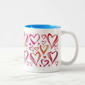 Hearts and Hearts Valentine's Day Gift Mug