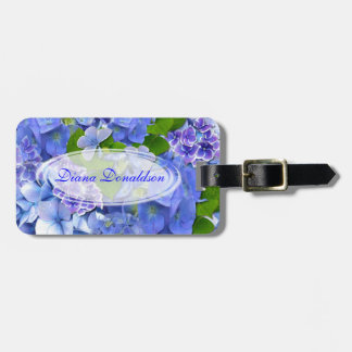 Hearts and Hydrangeas Luggage Tag