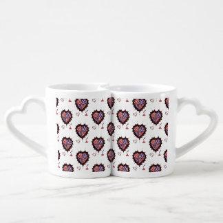Hearts and Kisses Coffee Mug Set Pair (2)