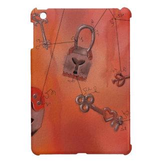 Hearts and Locks Watercolor Painting iPad Mini Cases