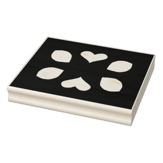 Hearts and Petal Shapes Cut Outs Rubber Stamp
