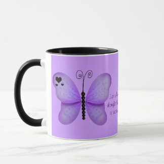 Hearts and Purple Butterflies Quote Mug