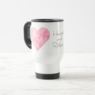 Hearts and Ribbons Travel Mug