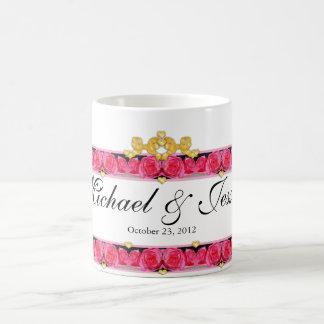 Hearts and Roses Classic White Coffee Mug