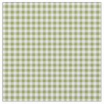 Hearts and Roses Green Check Gingham Fabric